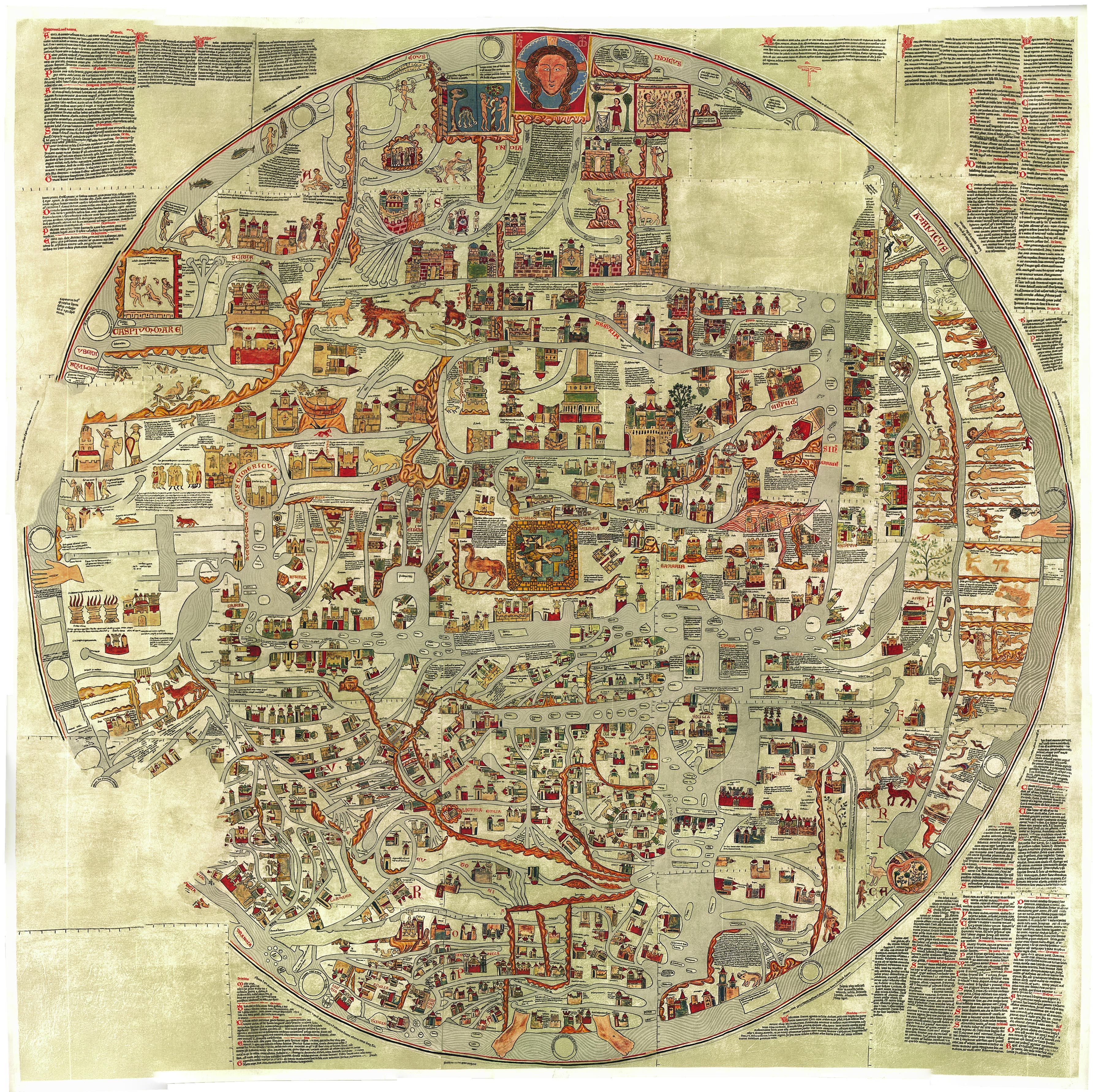 Ebstorfer world map t o design around the year 1300 to define ebstorfer world map t o design around the year 1300 gumiabroncs Choice Image