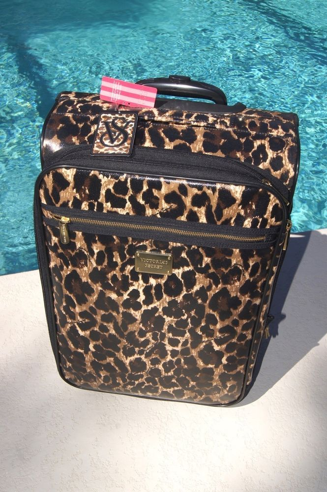Victoria's secret suitcase supermodel essentials leopard
