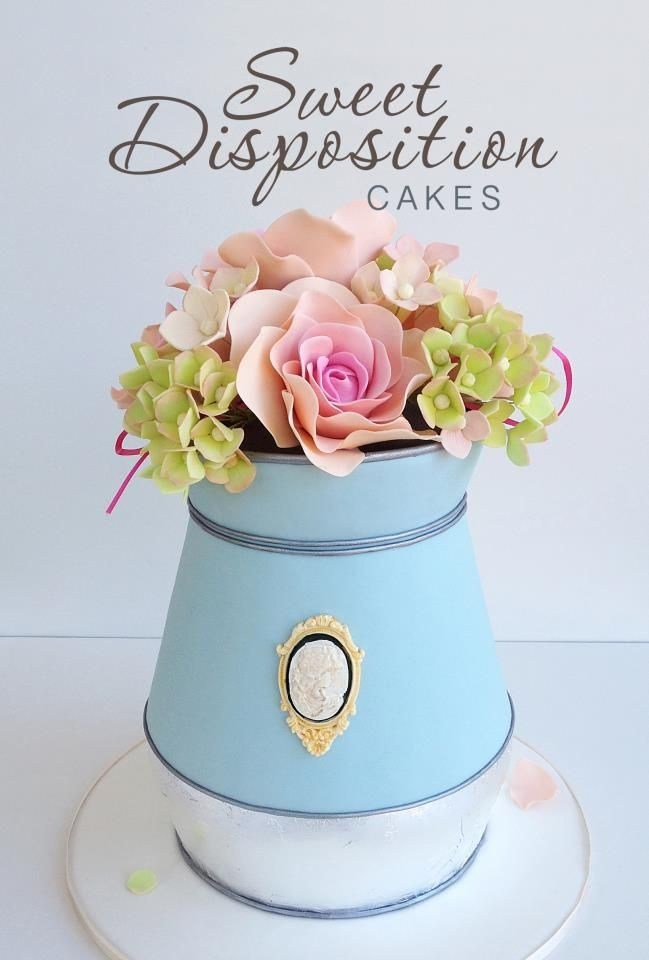 Can of Flowers Cake