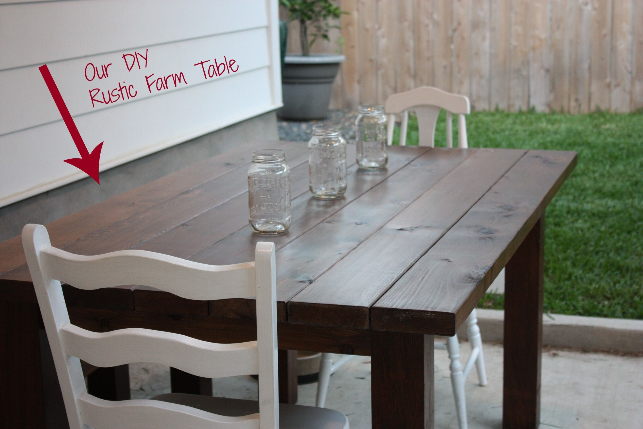 Our DIY Farm Table Farm table, Rustic farm table