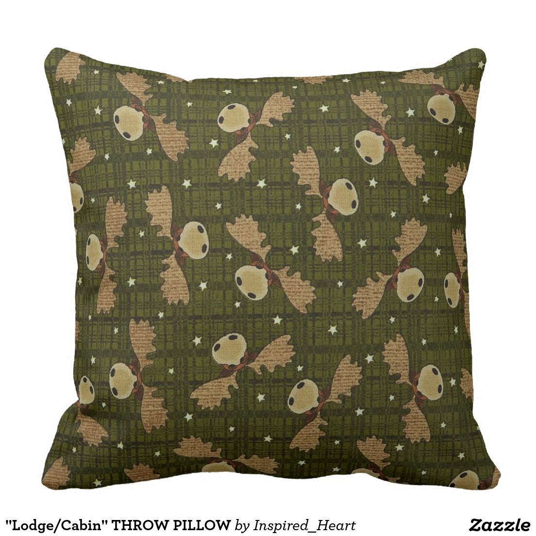 "Lodge/Cabin"" THROW PILLOW 