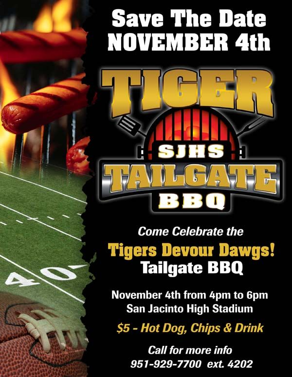 Sjhs Tailgate Bbq Flyer  Graphic Design Portfolio
