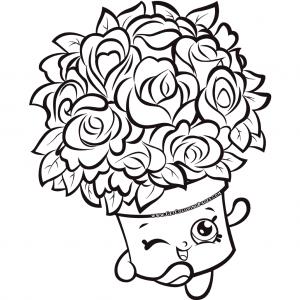 Bouquet Shopkins 7 Colouring Page