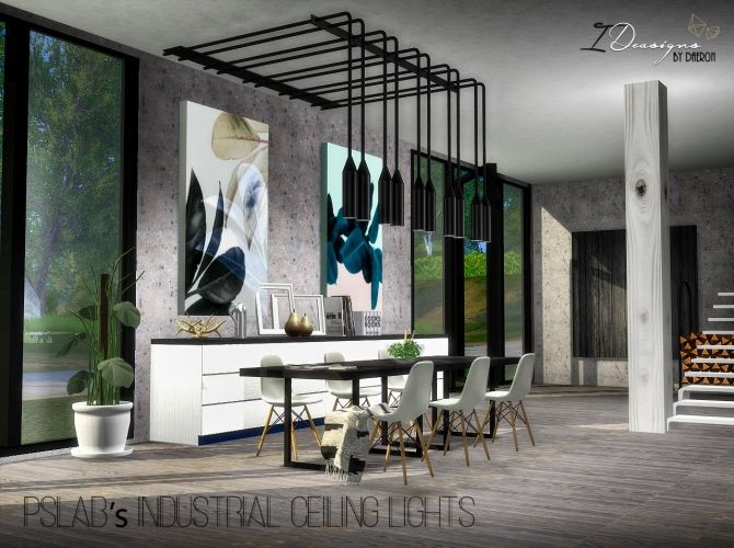 Industrial Ceiling Lights New Mesh at Daer0n – Sims 4