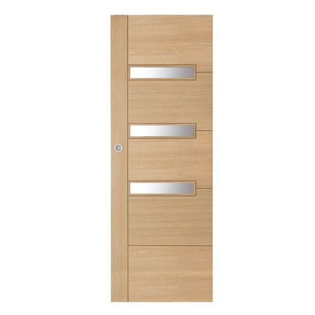 Porte coulissante Supernova  En bois  Lapeyre  Cuisine  Tall cabinet storage Cabinet et
