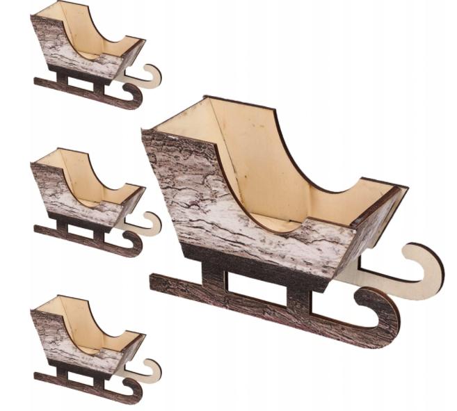 Sanki Drewniane Zawieszki Na Choinke Stroik 4szt Outdoor Furniture Outdoor Chairs Decor