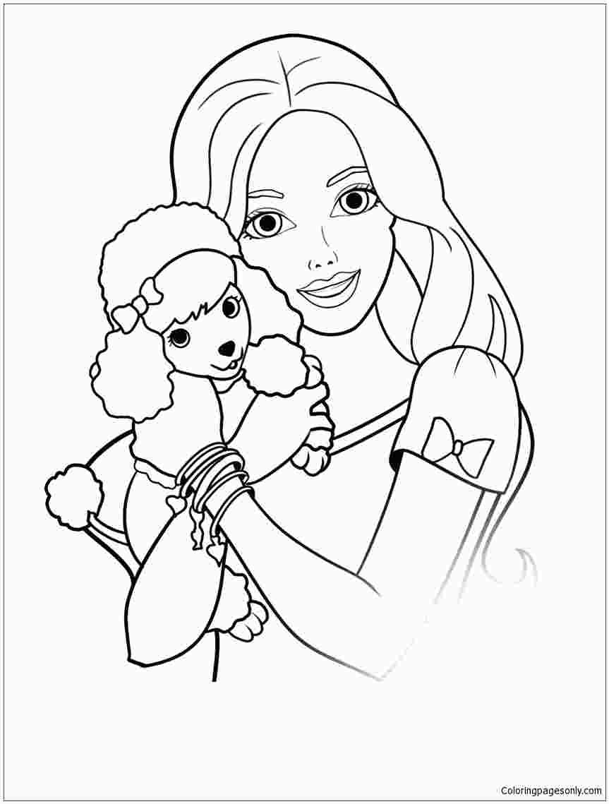Barbie And Puppy Coloring Pages Puppy Coloring Pages Dog Coloring Page Disney Coloring Pages
