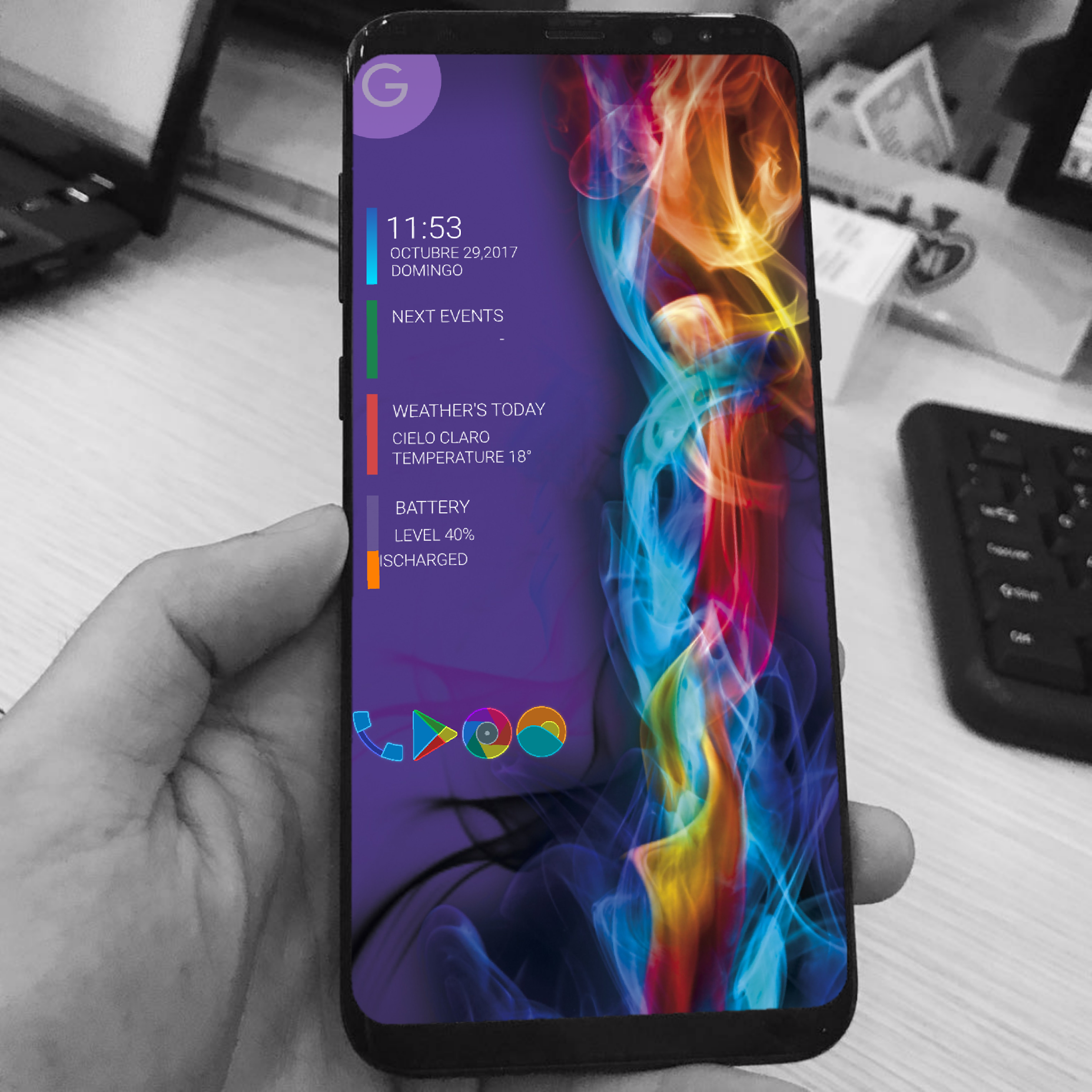 My colours homescrenn 😉😉 Hishoot template 👉 reshad abd