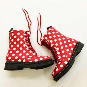 Rubber Doc Marten boots