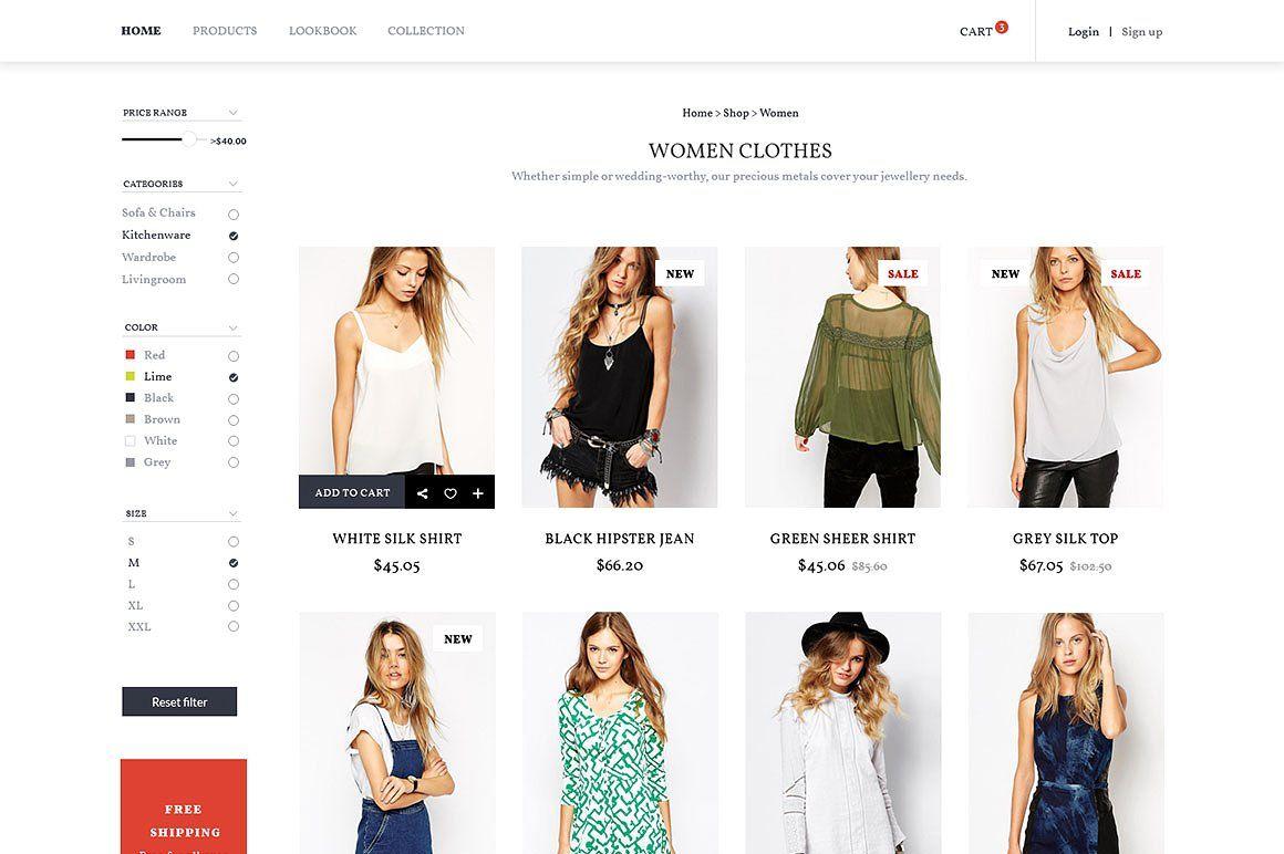 Warehouse Ecommerce Wp Theme Wp Themes Ecommerce Online Fashion Stores