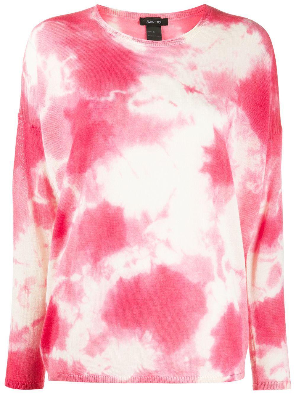 Avant Toi Lightweight Tie Dye Jumper Farfetch Tie Dye Pink Tye Dye Tie Dye Print [ 1334 x 1000 Pixel ]