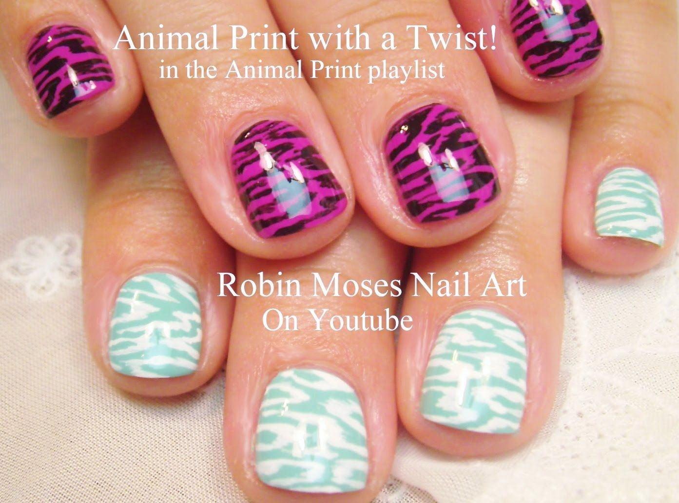 easy at home nail designs for short nails. Easy Nail Art for Short Nails  2 DIY Animal Print designs CUTE