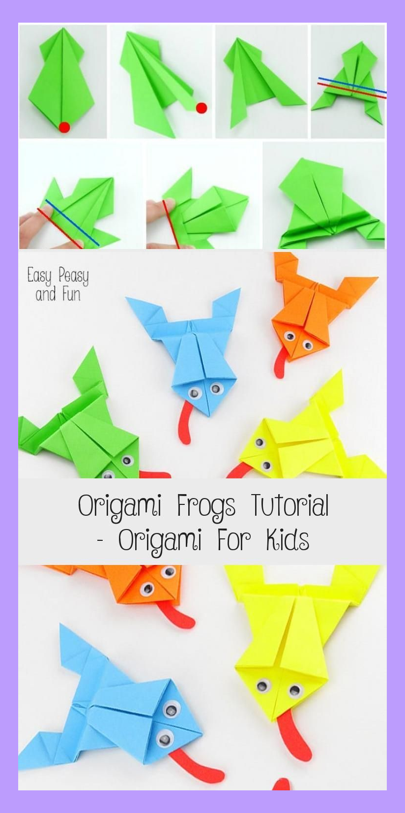 Photo of Origami Frogs Tutorial – Origami for Kids #origamiPikachu #origamiBird #origamiD…