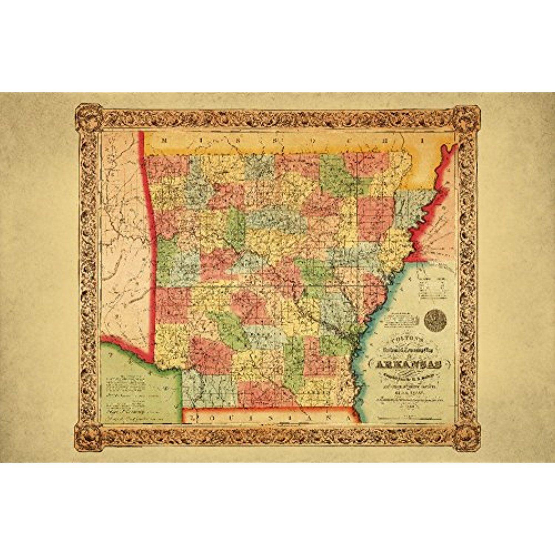 Arkansas - Panoramic Map (12x18 SIGNED Print Master Art Print w ...