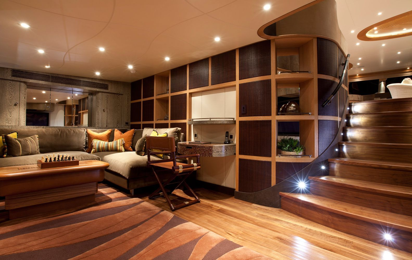 Luxury Yacht Living Room Decor