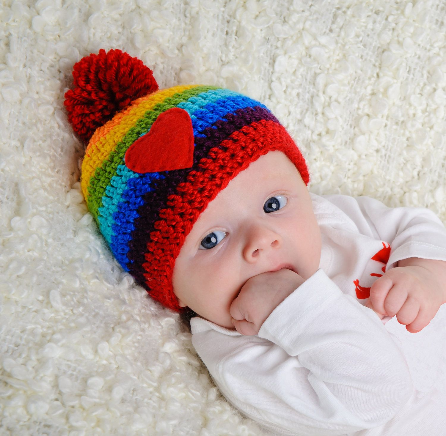 Valentine\'s Day Baby Rainbow Hat -- Adorable! (But sold out ...