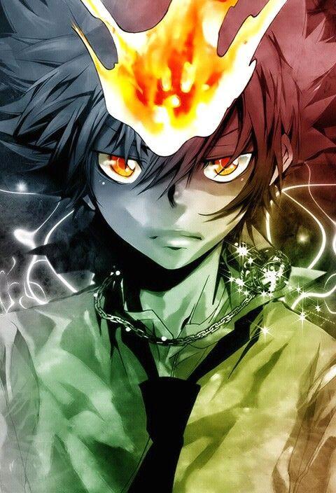 Dat Eyes Tsuna Sawada Reborn Katekyo Hitman Hitman Reborn Anime Wallpaper