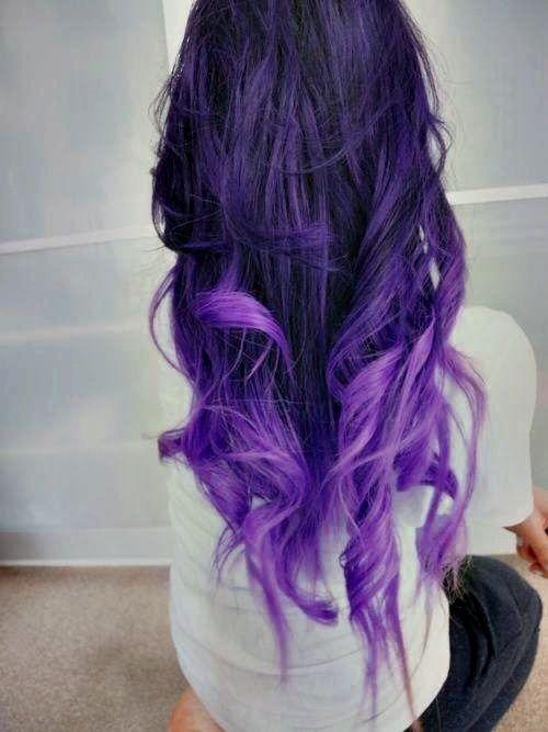 so sch n haare pinterest lila haare lockige haare und ombr haare. Black Bedroom Furniture Sets. Home Design Ideas