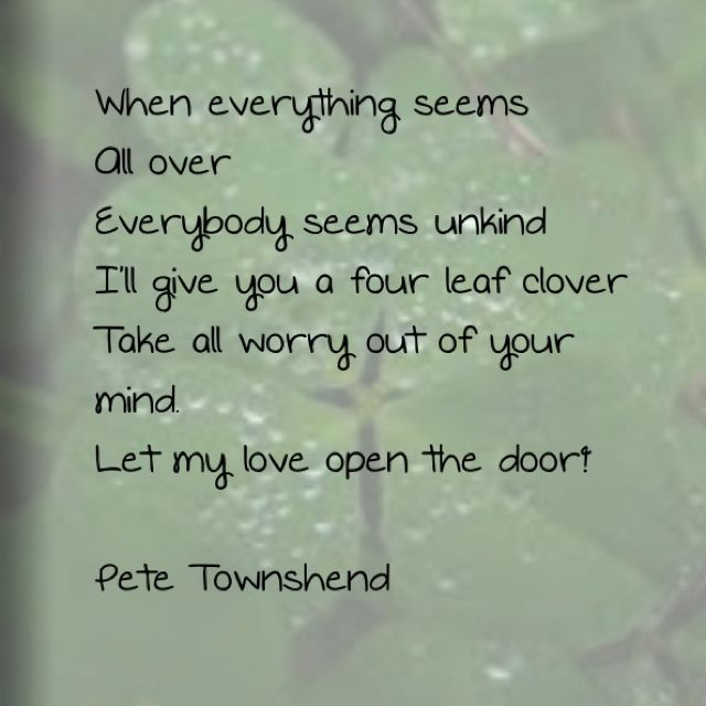 Pete Townshend Let My Love Open The Door Townshend My Love