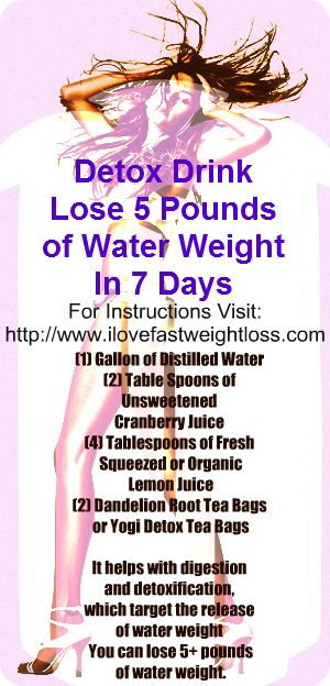 how to shed water weight fast
