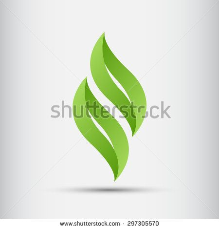 Green Leaves Abstract Logo Design