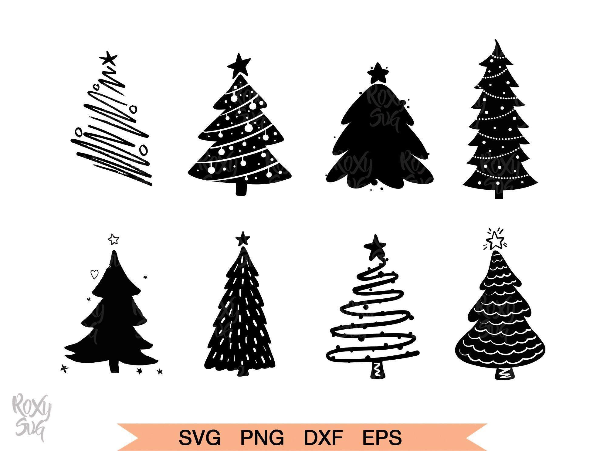 Download Christmas Trees Silhouette Christmas Tree Silhouette Tree Silhouette Cartoon Christmas Tree