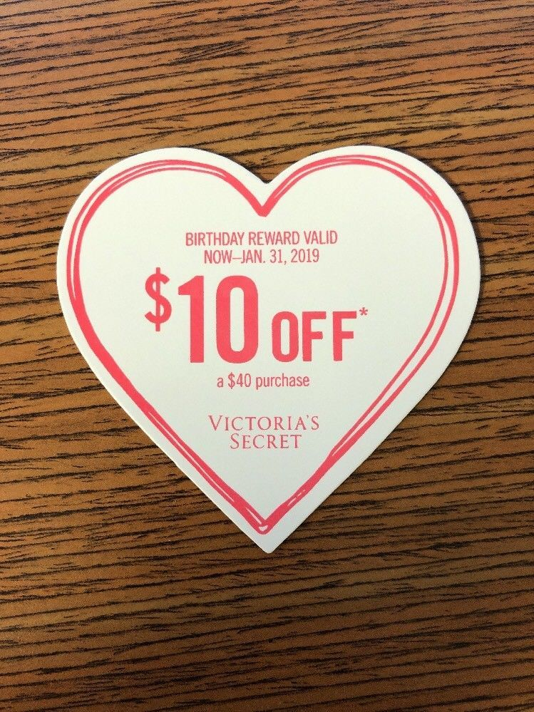 Victoria's Secret Coupon Reward Card $10 Off $40 purchase