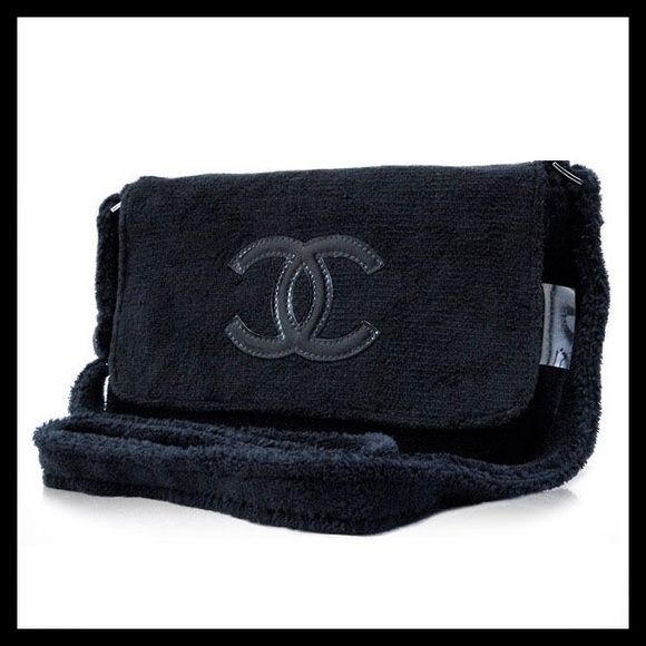 4d5c819b050c Chanel precision velour cross body bag gift 100% authentic Chanel precision  beauty velour plush shoulder body bag. This is complimentary given VIP gift  from ...