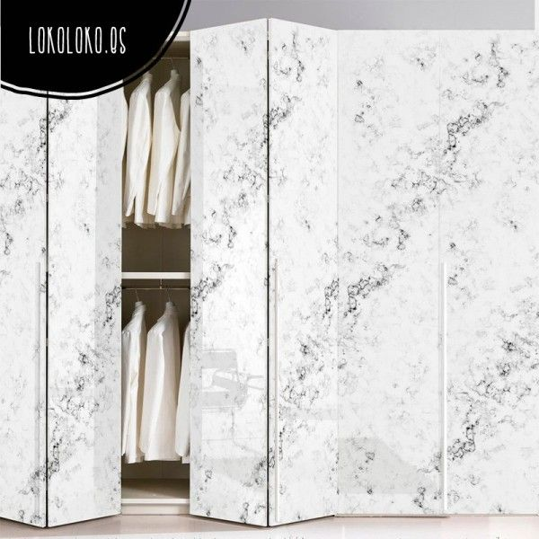 M rmol blanco 2 m rmol blanco puertas de armario y for Marmol color madera
