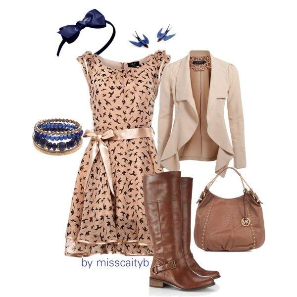 """Fall Dress"" by misscaityb on Polyvore"