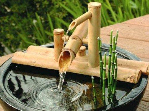 Decoracion zen para el jardin con fuentes de agua con for Jardines con fuentes