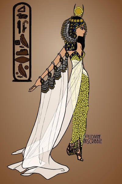 Cleopatra By Ronnie Ancient Egyptian Costume Egyptian Costume Egyptian Fashion