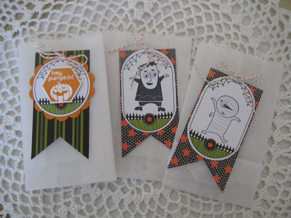 Decorated Halloween Treat Bags (Set of 20) Small Size/Glassine/Food - decorate halloween bags