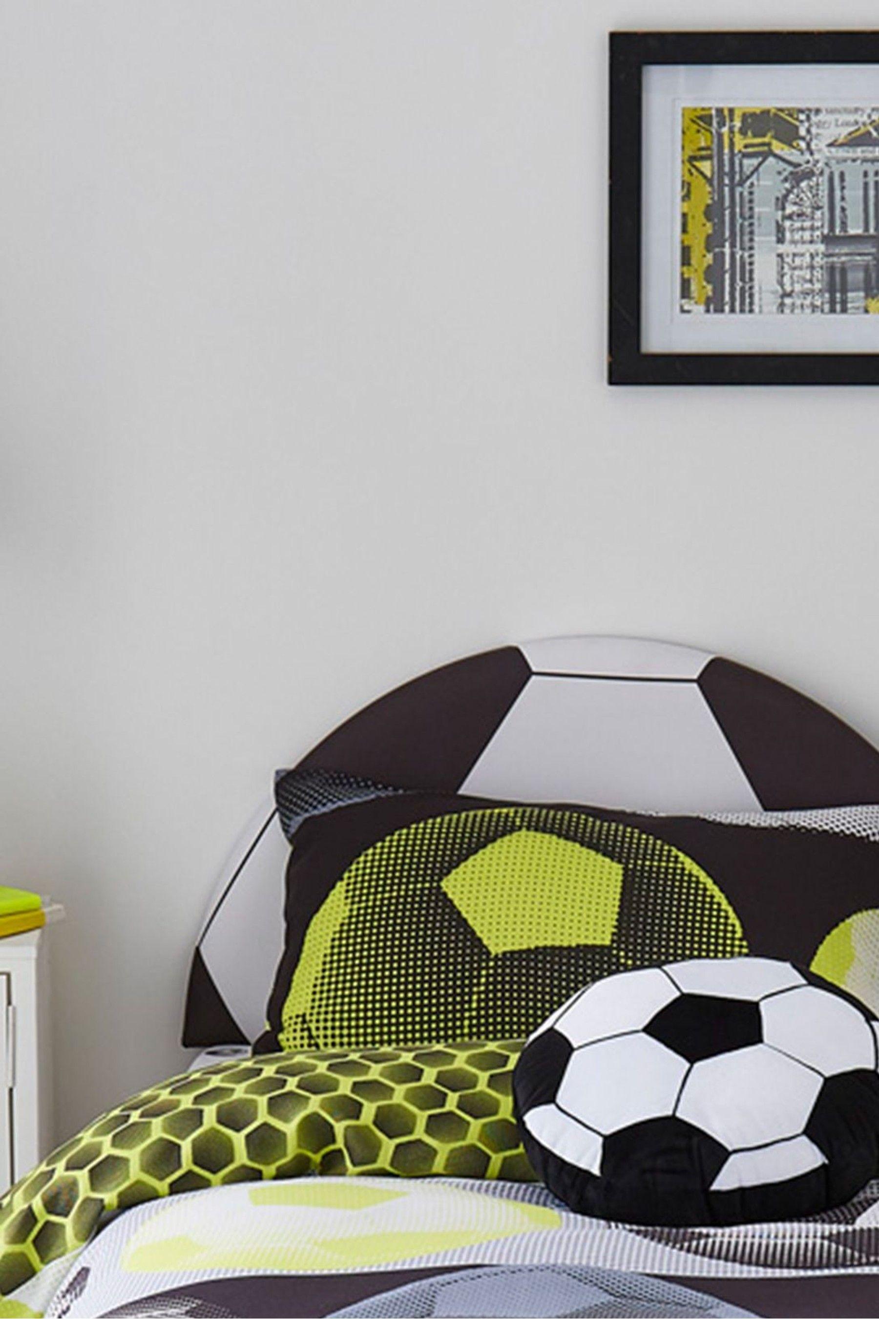Football Headboard By Catherine Lansfield Soccer Bedroom