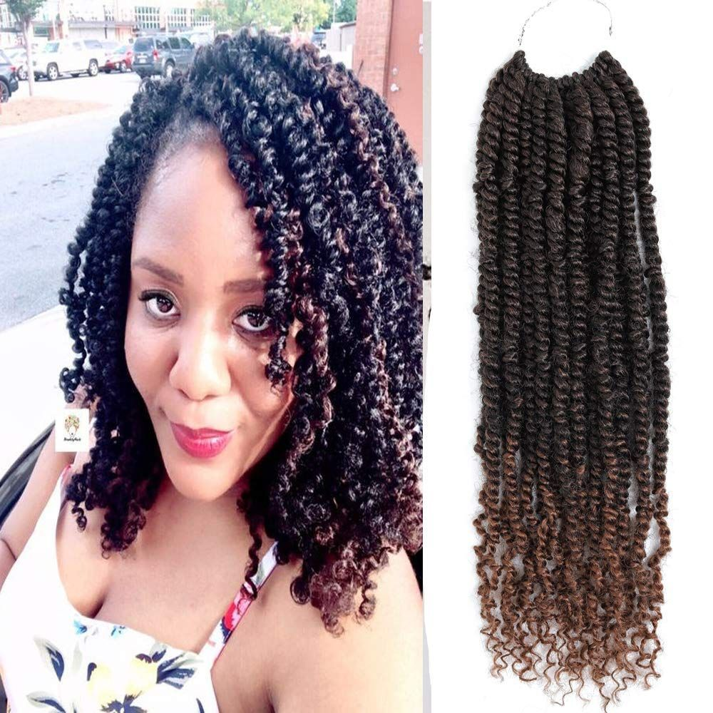Passion Twist Crochet Hair 6 Packs Pretwisted Spring Twist