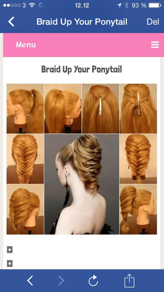 Sildebens Hestehale Fishtail Hairstyles Hairstyle Hair Videos