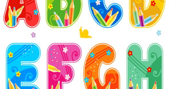 Abecedario Escolar Para Imprimir Letras Mayusculas De Colores Con Detalles De Lapices De Colores Para Trabajos Escolares Un Mural Kids Rugs Teaching English