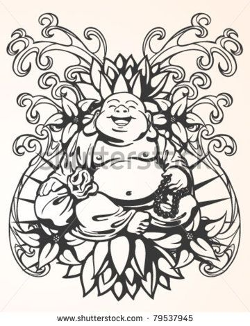 chinese buddha tattoo - Google Search | tattoos | Pinterest | Flor ...