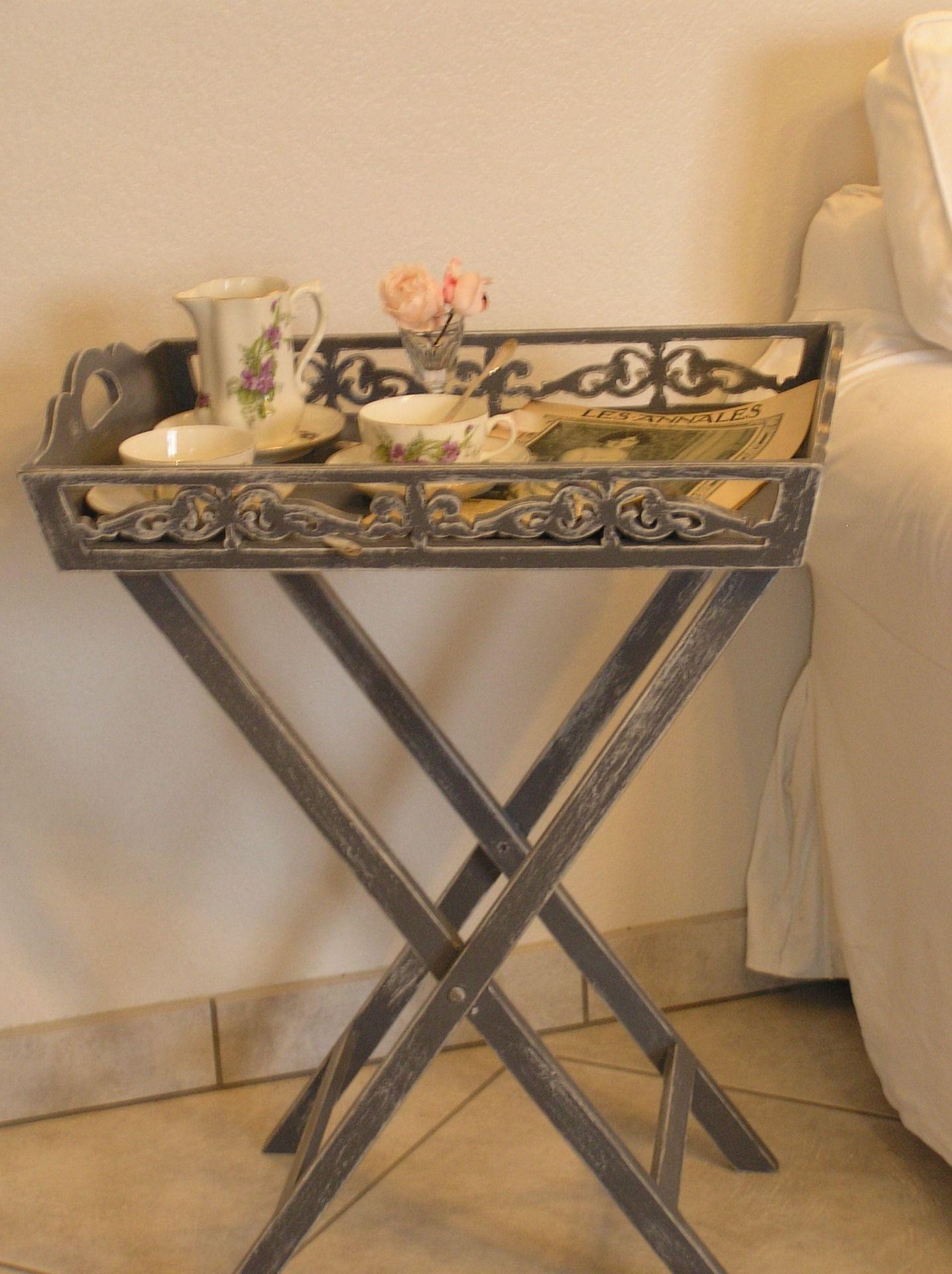 table pliante desserte patin e avec plateau amovible meubles et rangements par plateau. Black Bedroom Furniture Sets. Home Design Ideas