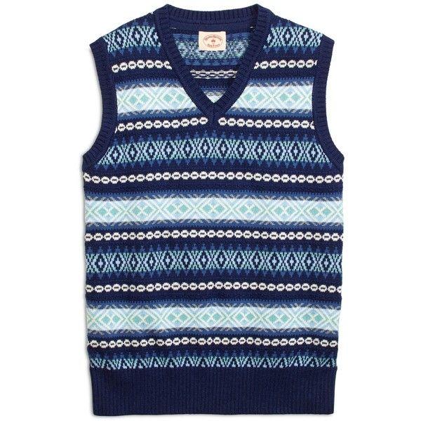 Brooks Brothers Fair Isle Sweater Vest ($36) ❤ liked on Polyvore ...