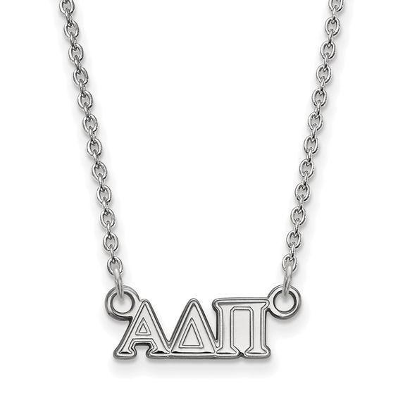 Zales Alpha Delta Pi Medium Sorority Necklace in Sterling Silver mYmwJ