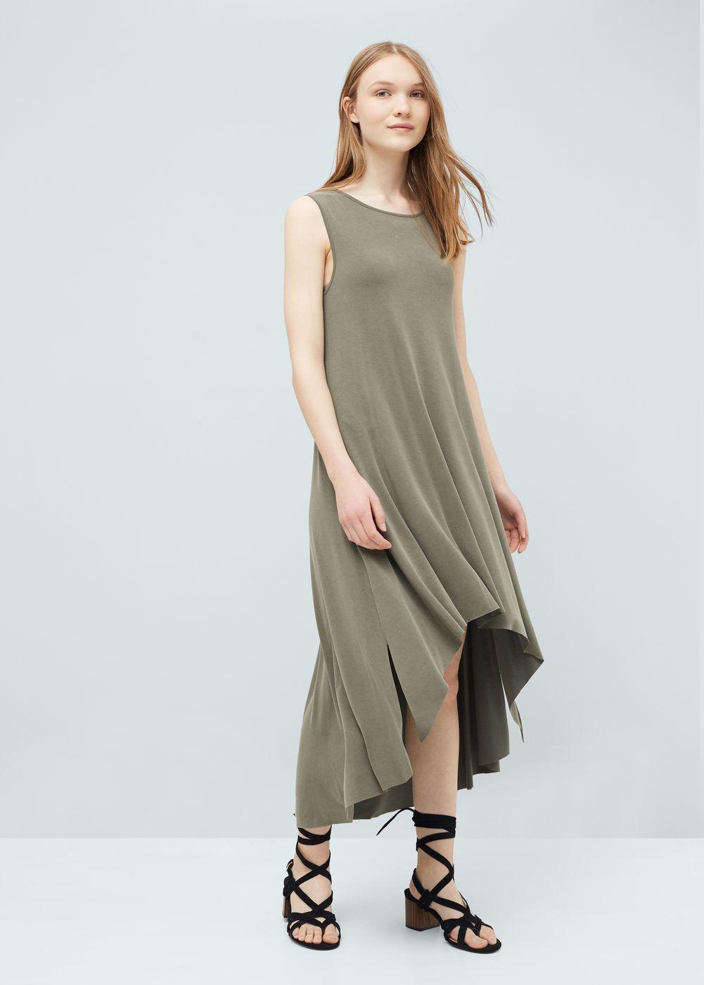 Vestido modal - Mujer | MANGO | Pinterest | Modales, Patrones de ...
