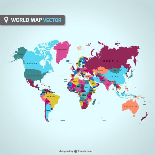 World map vector vectores vectors pinterest world map vector gumiabroncs Image collections