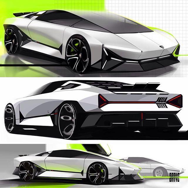 Lamborghini Bravo By Ken Zheng Cardesign Car Design Carsketch