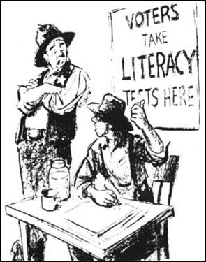 Literacy tests were extremly unfair to African Americans