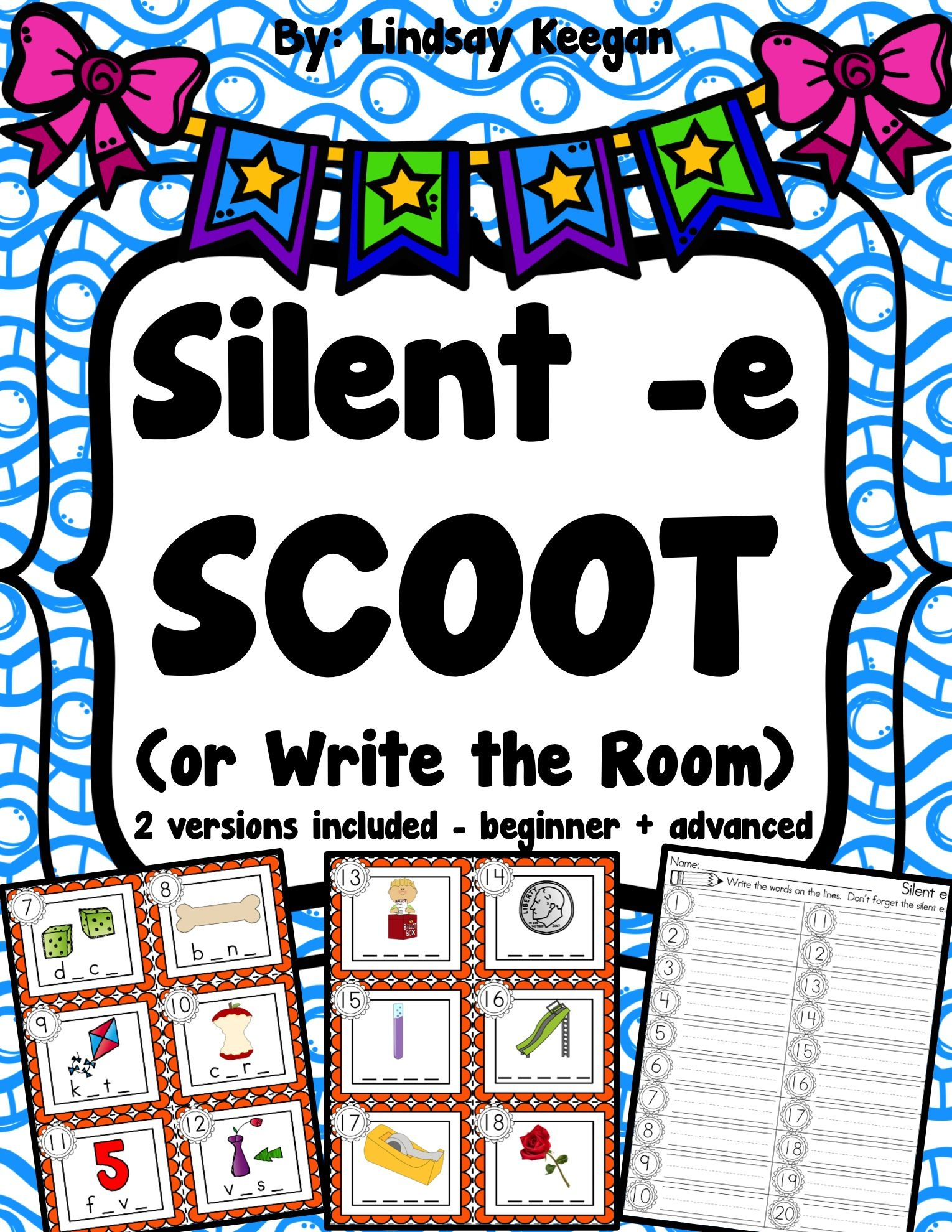 small resolution of Fun silent -e SCOOT or write the room activity.   First grade phonics