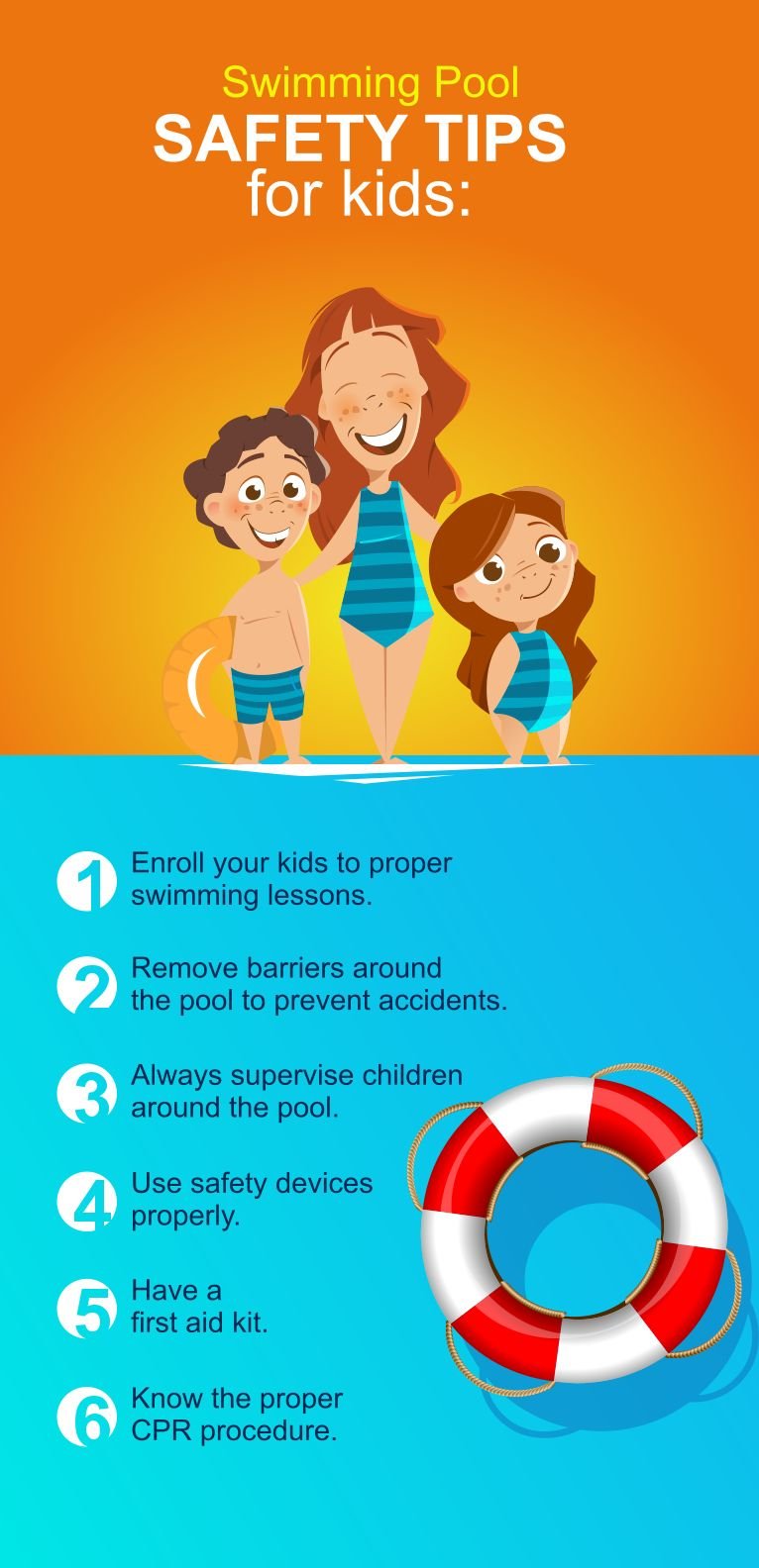 Swimming Pool Safety Tips For Kids. Visit www