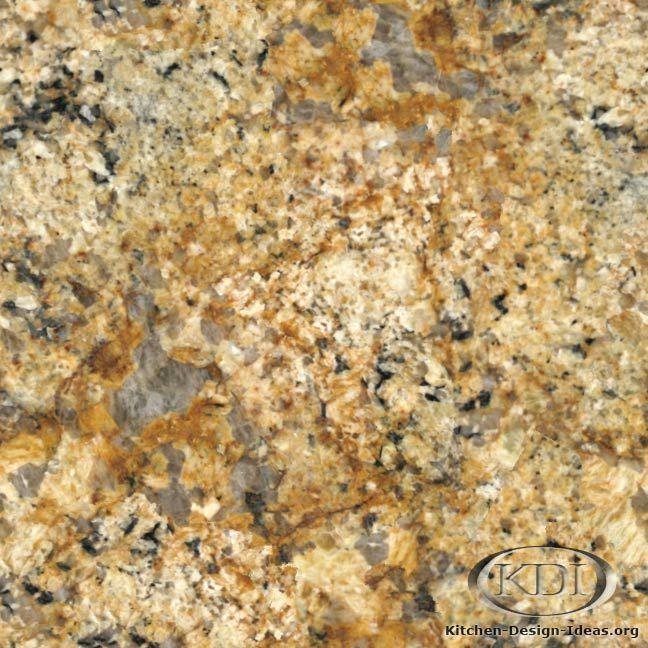 Namibia Gold Granite (Kitchen-Design-Ideas.org)