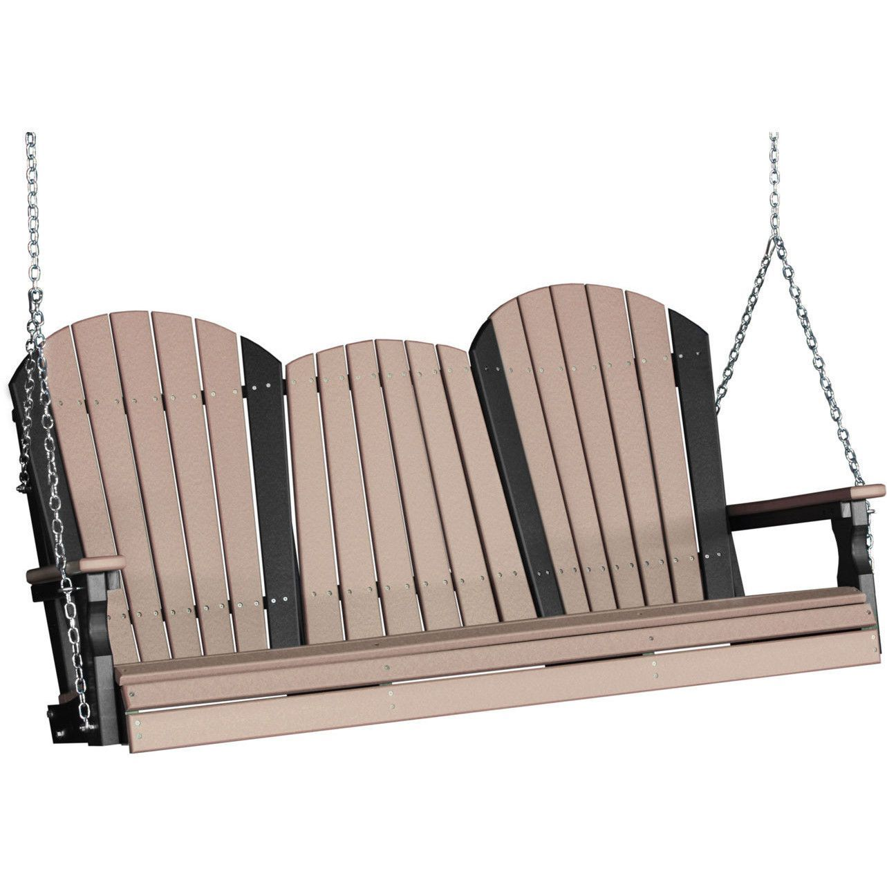 LuxCraft Adirondack 5ft. Recycled Plastic Porch Swing with