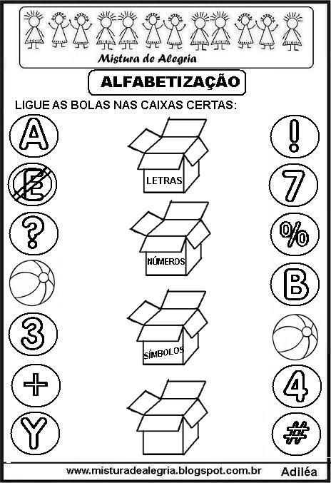 Atividade Simbolo Letras Numeros Imprimir Colorir Jpg 464 677